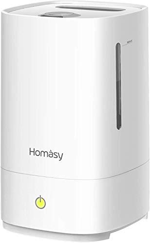 [Verbesserte]Homasy Ultraschall Luftbefeuchter,4.5L Top-Füllung Humidifier bis zu 40-50m², 28dB Ultra Leise Raumluftbefeuchter,Luftbefeuchter Schlafzimmer mit Schlafmodus,30h Arbeitszeit