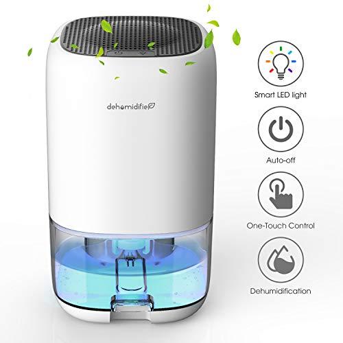 Luftentfeuchter 1000ml Elektrischer Entfeuchter Tragbarer Raumentfeuchter gegen Feuchtigkeit, Leise für Schrank, Badezimmer, Schlafzimmer, Büro, Garage
