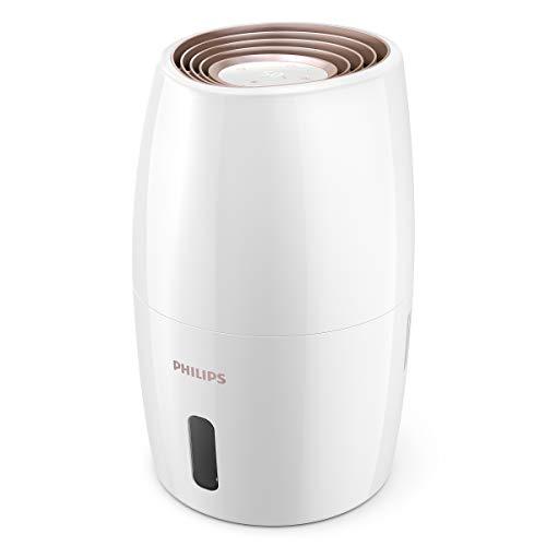 Philips Luftbefeuchter 2000 Serie HU2716/10 - Natürliche und hygienische Luftbefeuchtung durch Nano-große Wassermoleküle, weiß/roségold