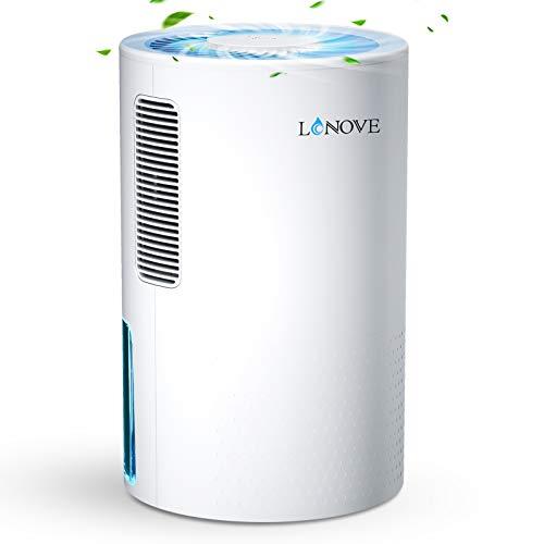 LONOVE Luftentfeuchter Tragbarer Entfeuchter Elektrisch - 2000ML Raumentfeuchter Lufttrockner Mit Ablaufschlauch, Dehumidifier für Schlafzimmer Badezimme Garage, Luftentfeuchter Bereich bis zu 38㎡